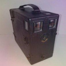 Cámara de fotos: PRECIOSA CAMARA DE DETECTIVE FRANCESA PARA PLACAS 9 X 12 CM MAS DE 120 AÑOS TAMAÑO GRANDE PIEL. Lote 267080439