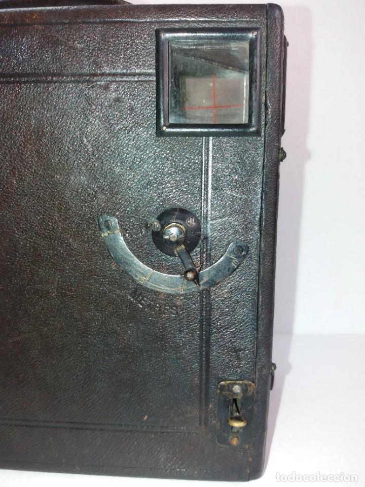 Cámara de fotos: PRECIOSA CAMARA DE DETECTIVE FRANCESA PARA PLACAS 9 X 12 cm MAS DE 120 AÑOS TAMAÑO GRANDE PIEL - Foto 22 - 267080439