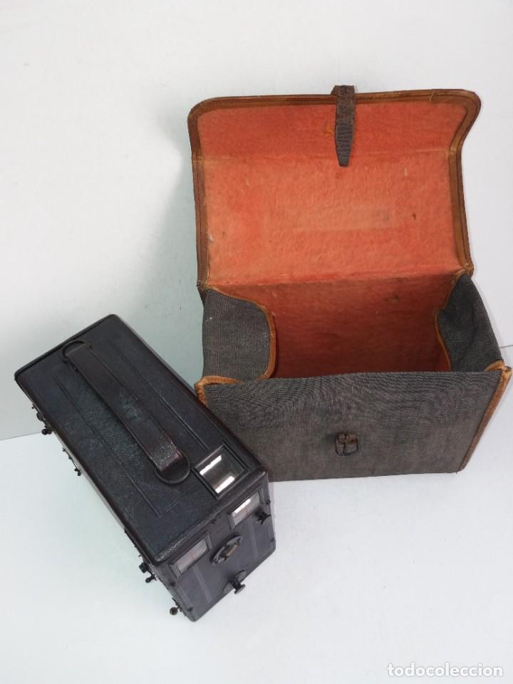 Cámara de fotos: PRECIOSA CAMARA DE DETECTIVE FRANCESA PARA PLACAS 9 X 12 cm MAS DE 120 AÑOS TAMAÑO GRANDE PIEL - Foto 27 - 267080439
