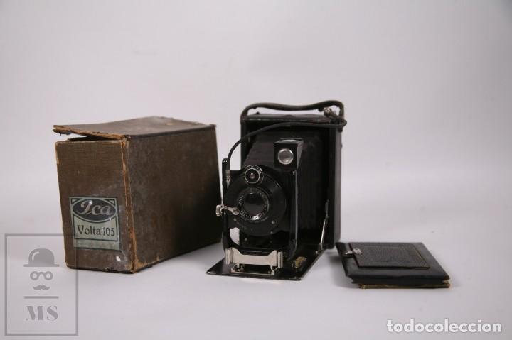 ANTIGUA CÁMARA DE FOTOS DE FUELLE ICA VOLTA 105 - PRIMER CUARTO SIGLO XX - ALEMANIA DRESDEN (Cámaras Fotográficas - Antiguas (hasta 1950))