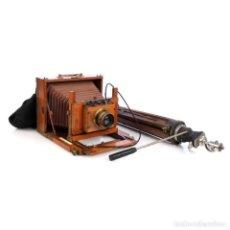 Cámara de fotos: ANTIGUO EQUIPO FOTOGRÁFICO CON OBJETIVO CARL ZEISS. CIRCA 1900. Lote 279526508