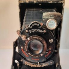 Câmaras de fotos: ANTIGUA CÁMARA ALEMANA VOIGTLANDER DE FUELLE LANDSCHAFT GRUPPE PORTRAIT. 1929. Lote 285442613