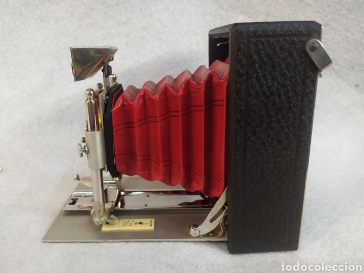 Cámara de fotos: Antigua Cámara de placas y fuelle estilo Krügener Deltacon obturador rotatorio. S.XIX . Muy raraAn - Foto 3 - 287668248