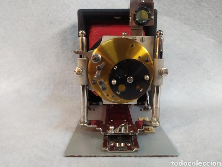 Cámara de fotos: Antigua Cámara de placas y fuelle estilo Krügener Deltacon obturador rotatorio. S.XIX . Muy raraAn - Foto 5 - 287668248