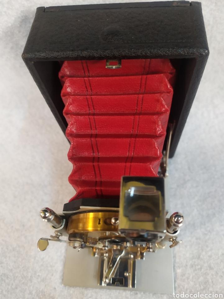 Cámara de fotos: Antigua Cámara de placas y fuelle estilo Krügener Deltacon obturador rotatorio. S.XIX . Muy raraAn - Foto 7 - 287668248