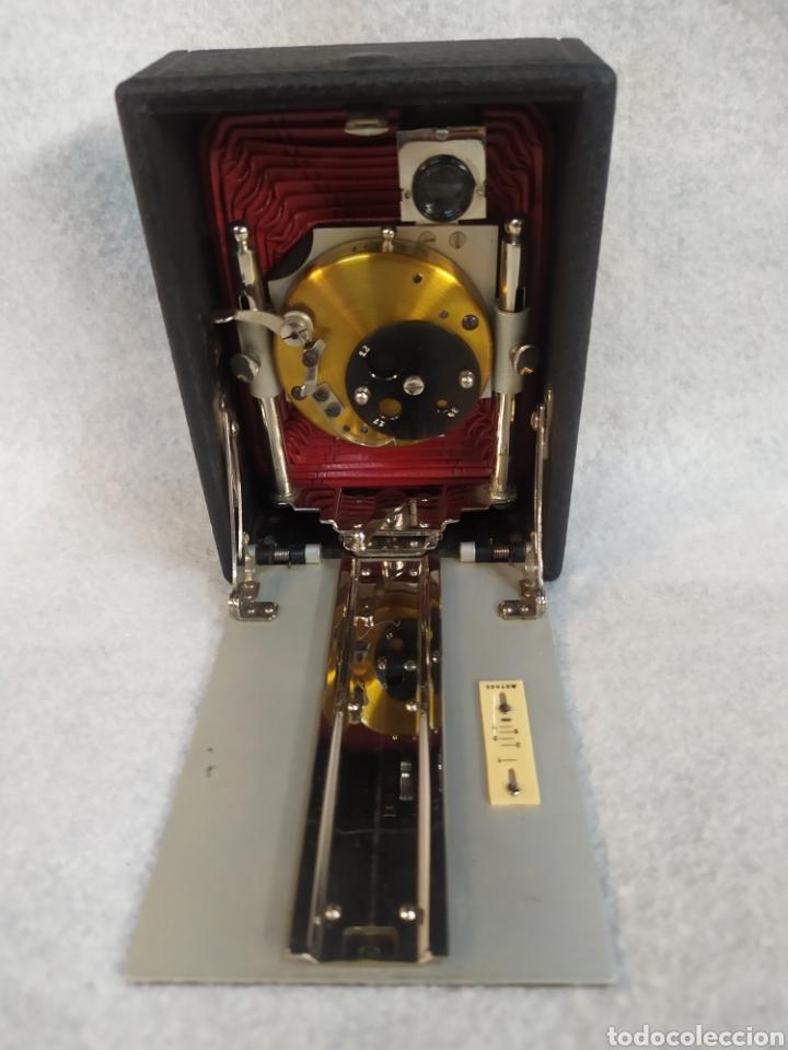 Cámara de fotos: Antigua Cámara de placas y fuelle estilo Krügener Deltacon obturador rotatorio. S.XIX . Muy raraAn - Foto 8 - 287668248