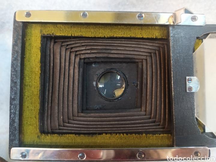 Cámara de fotos: Antigua Cámara de placas y fuelle estilo Krügener Deltacon obturador rotatorio. S.XIX . Muy raraAn - Foto 11 - 287668248