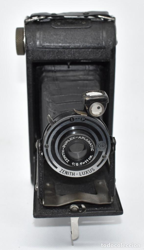 Cámara de fotos: RAREZA, DESCONOCIDA..120 FILM..ZENITH SUPER..DE 1930-1940..MUY BUEN ESTADO..FUNCIONA - Foto 3 - 288057853