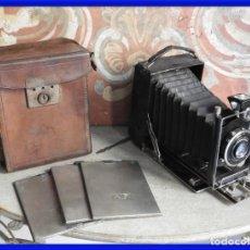 Cámara de fotos: MAQUINA DE FOTOS COMPUR REFLEX CON FUNDA Y PLACAS. Lote 288731493