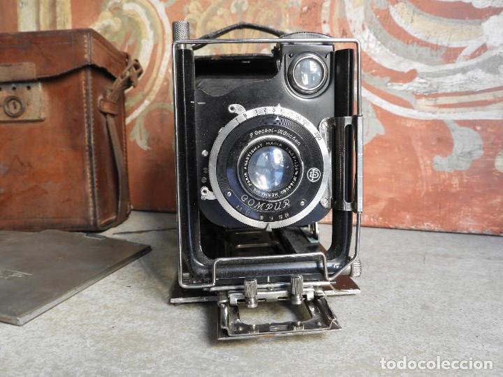 Cámara de fotos: MAQUINA DE FOTOS COMPUR REFLEX CON FUNDA Y PLACAS - Foto 2 - 288731493