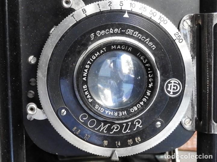 Cámara de fotos: MAQUINA DE FOTOS COMPUR REFLEX CON FUNDA Y PLACAS - Foto 3 - 288731493
