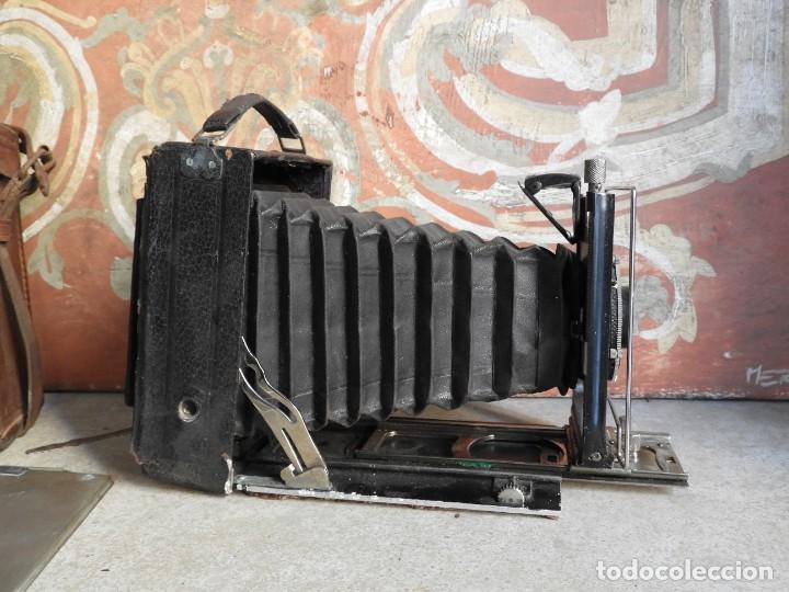Cámara de fotos: MAQUINA DE FOTOS COMPUR REFLEX CON FUNDA Y PLACAS - Foto 4 - 288731493