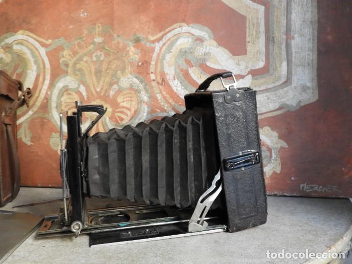 Cámara de fotos: MAQUINA DE FOTOS COMPUR REFLEX CON FUNDA Y PLACAS - Foto 7 - 288731493