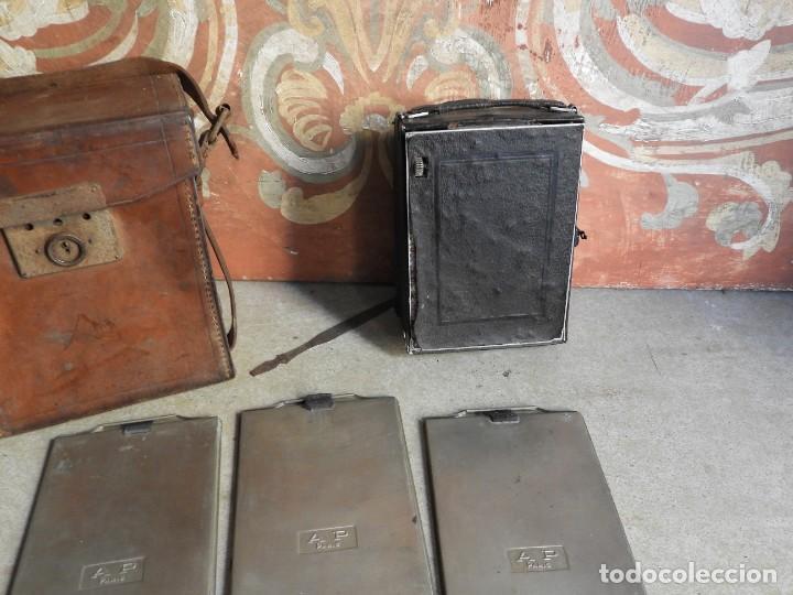 Cámara de fotos: MAQUINA DE FOTOS COMPUR REFLEX CON FUNDA Y PLACAS - Foto 11 - 288731493