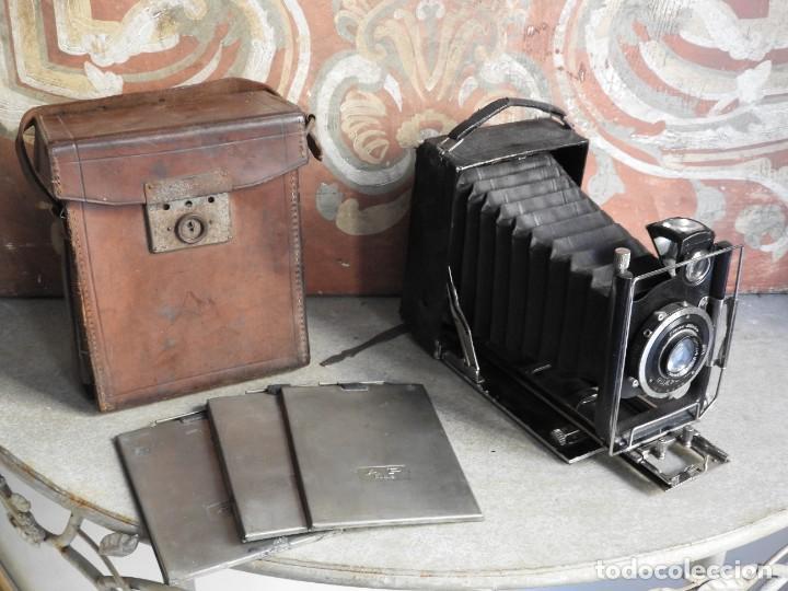 Cámara de fotos: MAQUINA DE FOTOS COMPUR REFLEX CON FUNDA Y PLACAS - Foto 16 - 288731493
