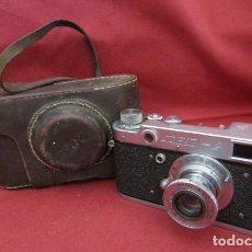 Cámara de fotos: ANTIGUA CÁMARA DE FOTOS FOTOGRÁFICA SOVIÉTICA RUSA URSS ALEMANA MODELO ZORKI TIPO LEICA II AÑO 1949. Lote 295505613