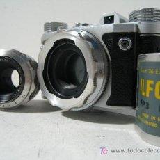 Cámara de fotos: CAMARA CLASICA OBJETIVOS INTERCAMBIABLES ALTIX V (1.954). Lote 26897661