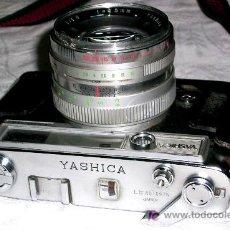 Cámara de fotos: YASHICA. LYNX-14.FUNDA CUERO.OBJETIVO CALIDAD 1:1,4 F=4 5 CON FOTÓMETRO DEFECTOS. ENVÍO PAGADO.. Lote 27851992