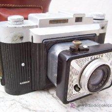 Cámara de fotos: BONITA CAMARA DE BAQUELITA ELITE FEX, CON FUNDA, FABRICADO EN FRANCIA 1965. Lote 21783849