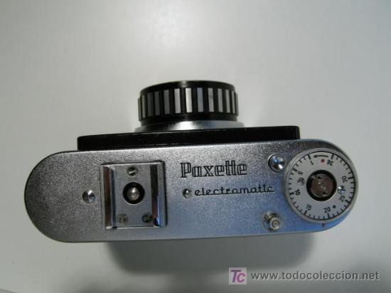 Cámara de fotos: CÁMARA CLÁSICA BRAUN PAXETTE ELECTRAMATIC (1959) - Foto 3 - 26579254