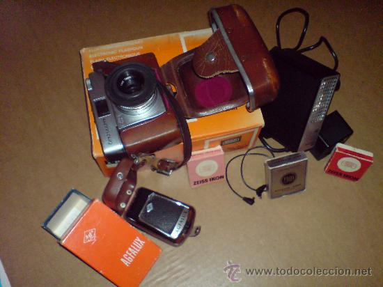 Cámara de fotos: CAMARA ZEISS IKON + FLASH BRAUN + FLASH AGFALUX + 2 LENTES ZEISS ORIGINALES - Foto 24 - 22930869