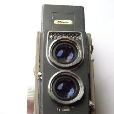 Cámara de fotos: RIKEN, RICOHMATIC 44 TLR FILM 127 OBJETIVO RIKEN RICOH 60MM F3,5 4X4CM AÑO 1956. Lote 26093613