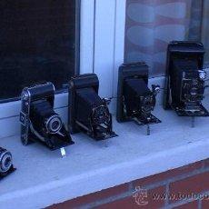 Cámara de fotos: LOTE DE 6 FANTASTICAS CAMARAS FOTOGRAFICAS DE FUELLE. PRECIOSAS PARA DECORACION, KODAK AGFA. Lote 25469973