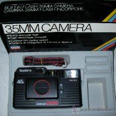 Cámara de fotos: ANTIGUA CAMARA 35 MM KEYSTONE USA CON EVERFLASH AF2000 INCORPORADO NUEVA SIN USAR EN SU CAJA. Lote 27284089