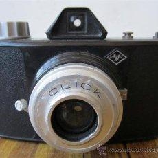 Cámara de fotos: CAMARA DE FOTOS AGFA CLICK .. DE BAQUELITA O SIMILAR Y FUNDA DE CUERO. Lote 28538025