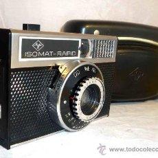 Cámara de fotos: EXCELENTE CAMARA ANTIGUA...AGFA ISOMAT RAPID + FUNDA...ALEMANIA 1965...,FUNCIONA. Lote 29854556