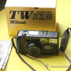Cámara de fotos: CAMARA NIKON TW ZOOM ( 35-80 MM.MACRO ) - QUARTZ DATE. Lote 111130079