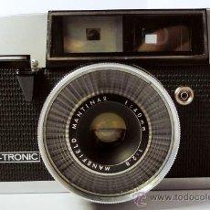 Cámara de fotos - Cámara Mansfield Eye-Tronic 35R, 1962, telémetro rangefinder, lente 40mm, funda original de cuero - 31933549