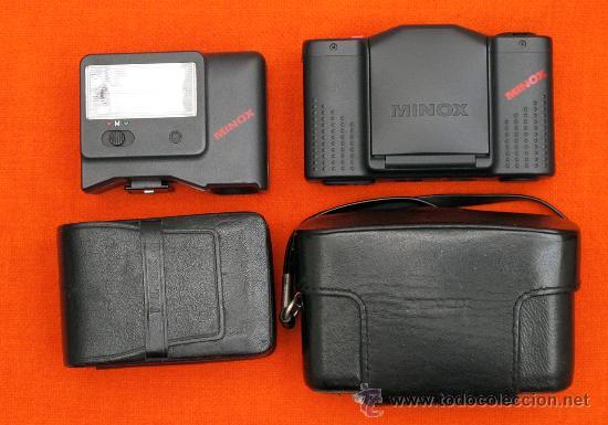 MINOX GT-E + FUNDA DE CUERO ORIGINAL + FLASH Y FUNDA. (Cámaras Fotográficas - Clásicas (no réflex))