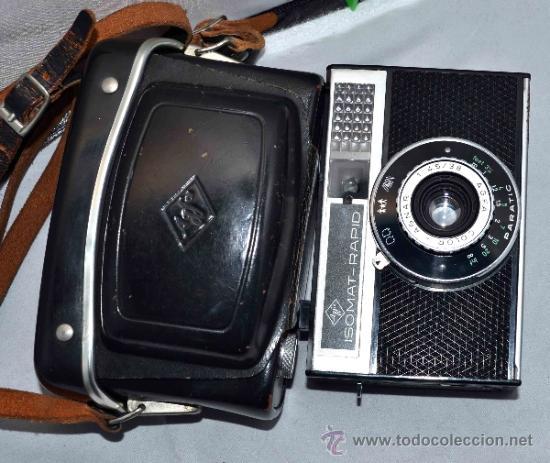 Cámara de fotos: EXCELENTE CAMARA ANTIGUA...AGFA ISOMAT RAPID + FUNDA...ALEMANIA 1965...,FUNCIONA - Foto 5 - 37221678