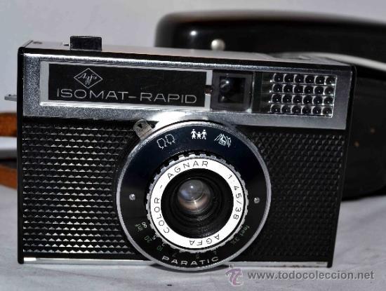 Cámara de fotos: EXCELENTE CAMARA ANTIGUA...AGFA ISOMAT RAPID + FUNDA...ALEMANIA 1965...,FUNCIONA - Foto 2 - 37221678