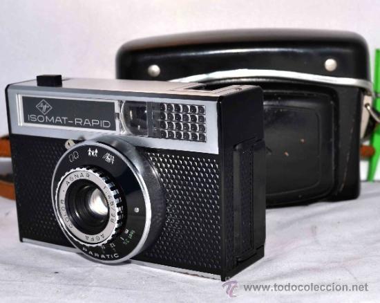 Cámara de fotos: EXCELENTE CAMARA ANTIGUA...AGFA ISOMAT RAPID + FUNDA...ALEMANIA 1965...,FUNCIONA - Foto 6 - 37221678