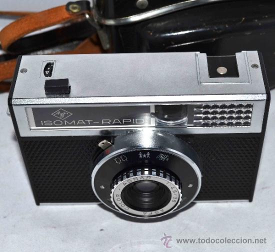 Cámara de fotos: EXCELENTE CAMARA ANTIGUA...AGFA ISOMAT RAPID + FUNDA...ALEMANIA 1965...,FUNCIONA - Foto 11 - 37221678