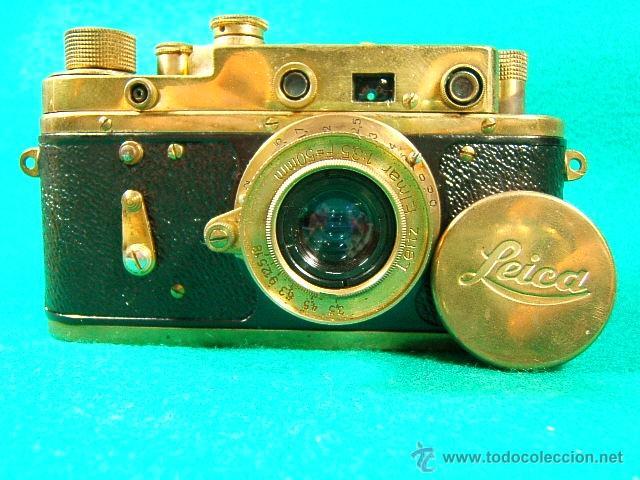 LEICA D.R.P. ERNST LEITZ WETZAR-SERIE II-Nº 272350-OBJ:LEITZ ELMAR-RUSA ZORKI C-FED-RARISIMA-FUNDA. (Cámaras Fotográficas - Clásicas (no réflex))