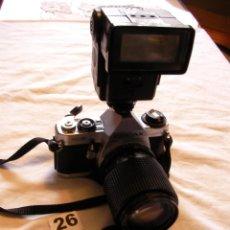 Cámara de fotos: ANTIGUA CAMARA DE FOTOS PENTAX MG CON ZOOM CHINON 35-105 MM; 3,5-4,5 Y FLASH. Lote 108371063