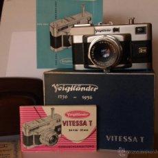 Cámara de fotos: VOIGTLANDER VITESSA T (1) - OBJETIVO SKOPAR 50MM 2.8 + GUIAS / EXCELENTE ESTADO. Lote 43062198