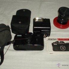 Cámara de fotos: CAMARA PENTAX AUTO SUPER 110 FUNDA CAMARA Y FUNDA FLASH. Lote 43105687