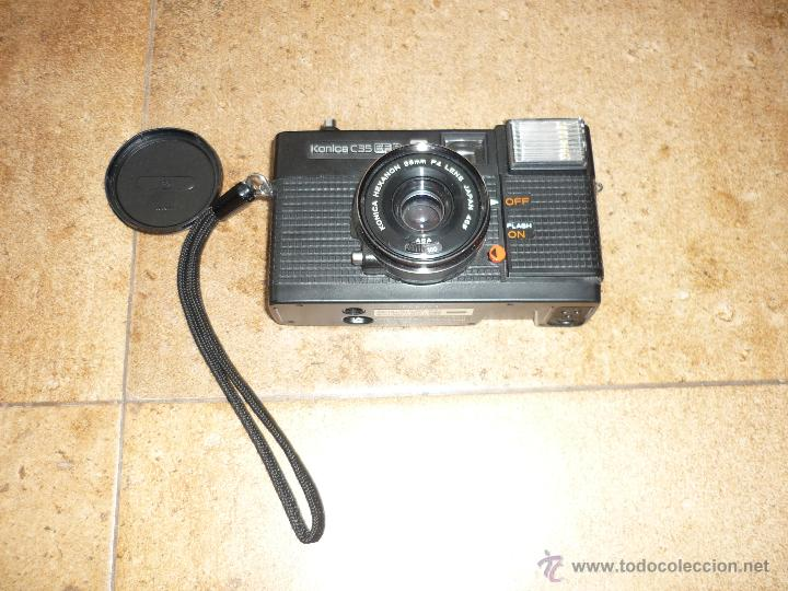 Cámara de fotos: CÁMARA CLÁSICA DE COLECCIÓN KONICA C35 EF (1974) - Foto 2 - 43988043