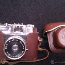 Cámara de fotos: ANTIGUA CAMARA HALINA 35X SUPER FABRICADA EN HONG KONG EN EL AÑO 1963 CON SU FUNDA ORIGINAL. Lote 46384221