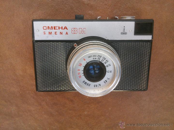 Cámara de fotos: ANTIGUA CAMARA FOTOGRAFICA RUSA CMEHA SMENA LOMO 8M. - Foto 2 - 48860247