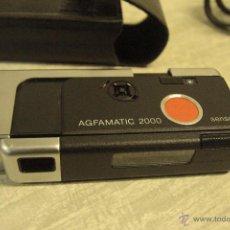 Cámara de fotos: CAMARA AGFAMATIC 2000. MODELO METALICO. FORMATO 110. CON FUNDA -REF3500-. Lote 49387180