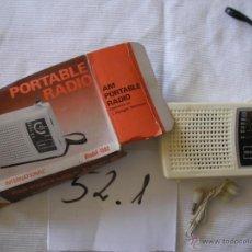 Cámara de fotos: ANTIGUA RADIO TRANSISTOR INTERNATIONAL NUEVO SIN USAR EN SU CAJA . Lote 50600156