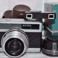 Cámara de fotos: CARL ZEISS JENA, WERRA 1E+FUNDA+CAJA+TELEMETRO++..ALEMANIA 1965..RAREZA .MUY BUEN ESTADO..FUNCIONA. Lote 52650351