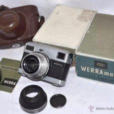 Cámara de fotos: CARL ZEISS JENA WERRAMATIC+FUNDA+CAJA+..CAMARA ANTIGUA,35 MM..ALEMANA 1961.MUY BUEN ESTADO..FUNCIONA. Lote 52735194