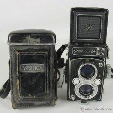 Cámara de fotos: CAMARA FOTOGRAFICA YASHIKA-24. FUNDA DE CUERO ORIGINAL. 1965. Lote 52497622