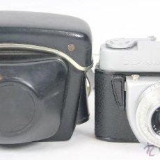Cámara de fotos: CAMARA FOTOGRAFICA MARCA BEIRETTE. FUNDA EN CUERO. 1970. MADE IN GDR.. Lote 49689858